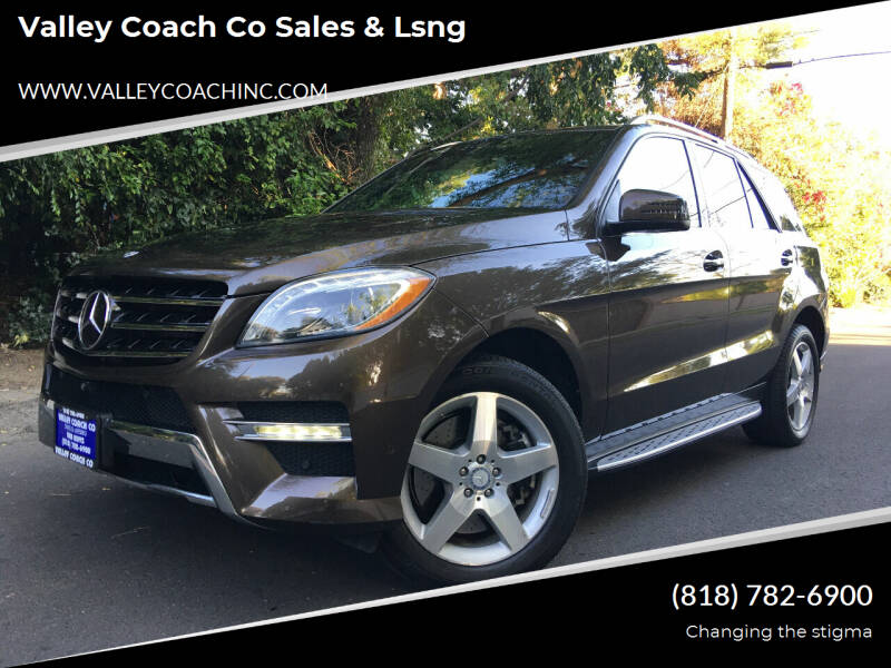 2014 Mercedes-Benz M-Class for sale at Valley Coach Co Sales & Lsng in Van Nuys CA