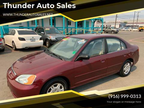 2002 Honda Civic for sale at Thunder Auto Sales in Sacramento CA