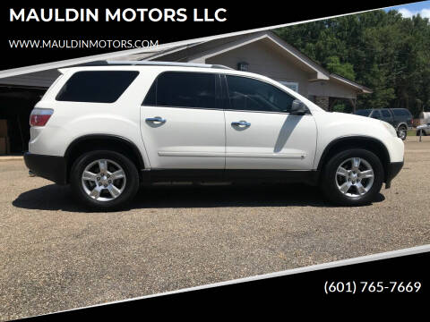 2010 GMC Acadia for sale at MAULDIN MOTORS LLC in Sumrall MS