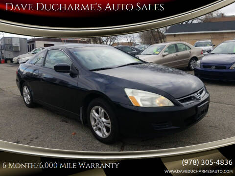 2006 Honda Accord for sale at Dave Ducharme's Auto Sales in Lowell MA