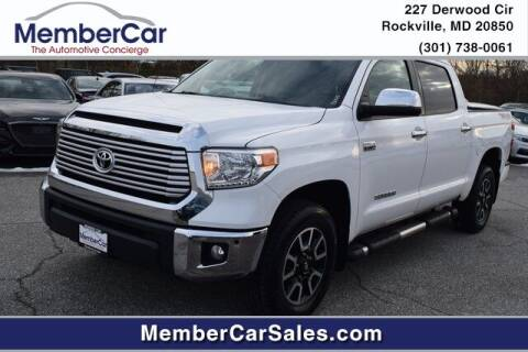 2016 Toyota Tundra for sale at MemberCar in Rockville MD