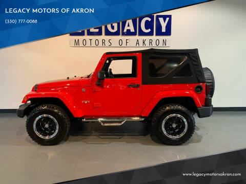 2016 Jeep Wrangler for sale at LEGACY MOTORS OF AKRON in Akron OH