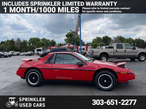 1988 Pontiac Fiero for sale at Sprinkler Used Cars in Longmont CO