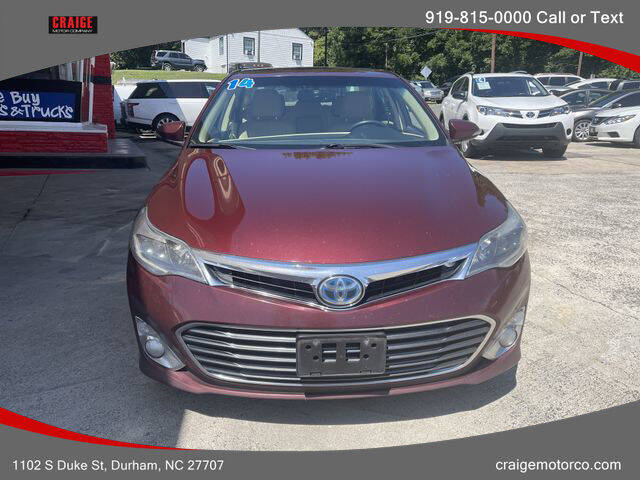 2014 Toyota Avalon Hybrid for sale at CRAIGE MOTOR CO in Durham NC