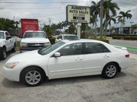 2003 Honda Accord for sale at Aubrey's Auto Sales in Delray Beach FL