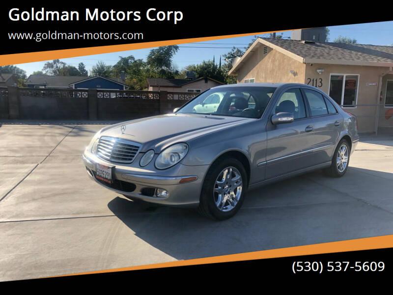 2004 Mercedes-Benz E-Class for sale at Goldman Motors Corp in Stockton CA