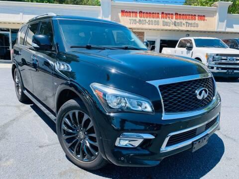 2015 Infiniti QX80 for sale at North Georgia Auto Brokers in Snellville GA