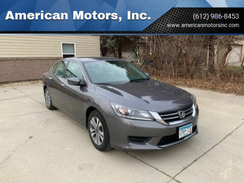 2014 Honda Accord for sale at American Motors, Inc. in Farmington MN