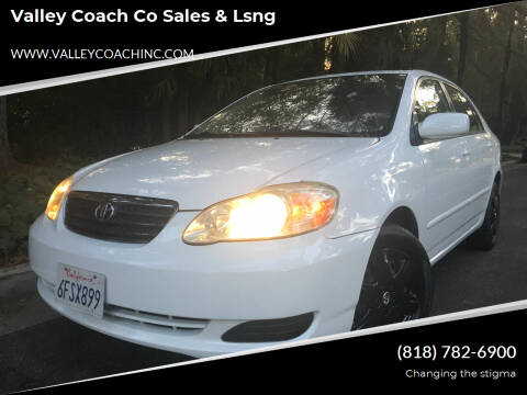 2005 Toyota Corolla for sale at Valley Coach Co Sales & Lsng in Van Nuys CA