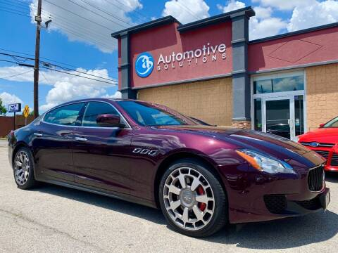 2016 Maserati Quattroporte for sale at Automotive Solutions in Louisville KY