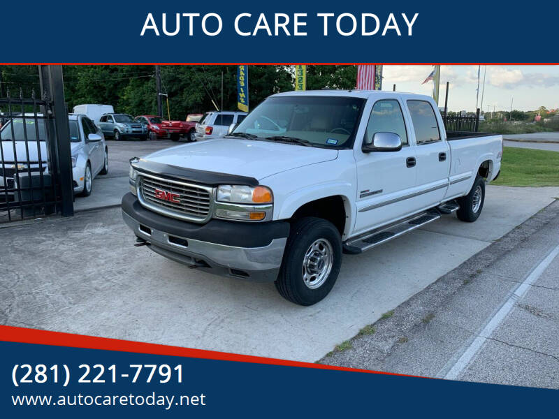 2002 GMC Sierra 2500HD for sale at AUTO CARE TODAY in Spring TX