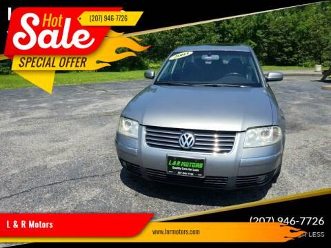2003 Volkswagen Passat for sale at L & R Motors in Greene ME