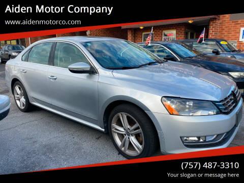 2012 Volkswagen Passat for sale at Aiden Motor Company in Portsmouth VA