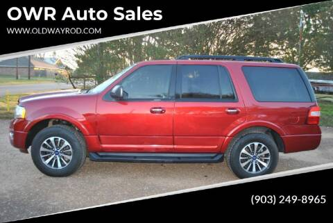 2015 Ford Expedition for sale at OWR Auto Sales in Paris TX