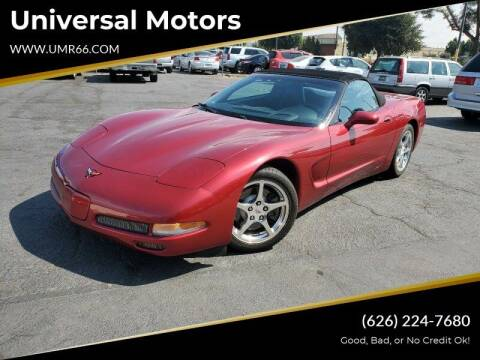 2002 Chevrolet Corvette for sale at Universal Motors in Glendora CA
