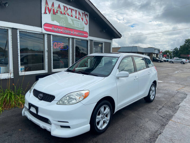 2003 Toyota Matrix for sale at Martins Auto Sales in Shelbyville KY