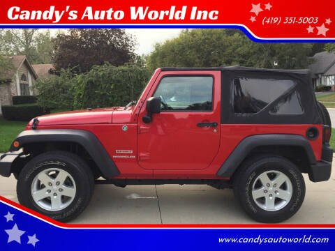 2012 Jeep Wrangler for sale at Candy's Auto World Inc in Toledo OH