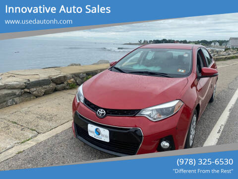 2015 Toyota Corolla for sale at Innovative Auto Sales in North Hampton NH