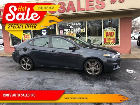2013 Dodge Dart for sale at RON'S AUTO SALES INC in Cicero IL