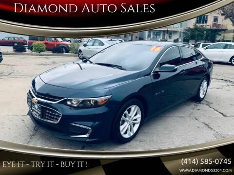 2016 Chevrolet Malibu for sale at Diamond Auto Sales in Milwaukee WI