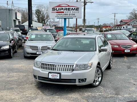 2009 Lincoln MKZ for sale at Supreme Auto Sales in Chesapeake VA