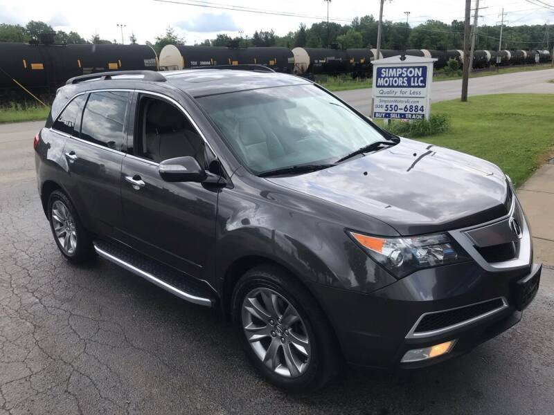 2011 Acura MDX for sale at SIMPSON MOTORS in Youngstown OH