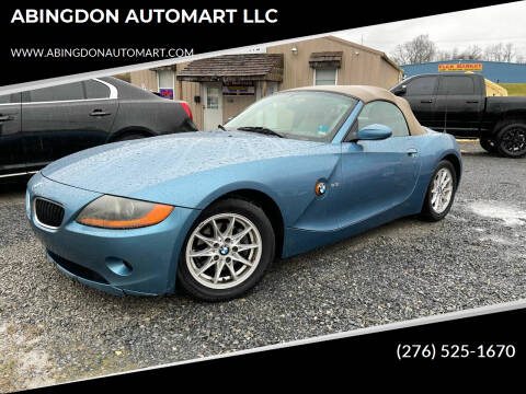 2003 BMW Z4 for sale at ABINGDON AUTOMART LLC in Abingdon VA