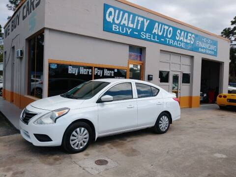 2016 Nissan Versa for sale at QUALITY AUTO SALES OF FLORIDA in New Port Richey FL
