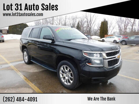 2015 Chevrolet Tahoe for sale at Lot 31 Auto Sales in Kenosha WI
