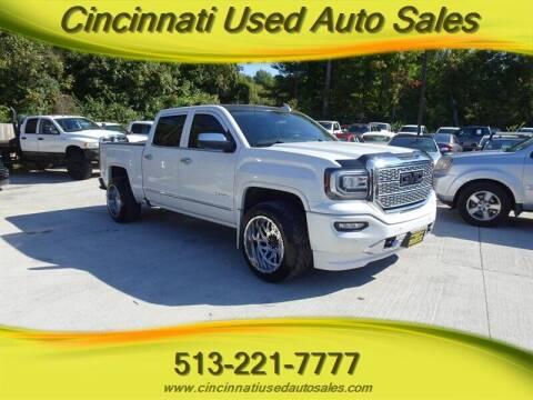 2017 GMC Sierra 1500 for sale at Cincinnati Used Auto Sales in Cincinnati OH