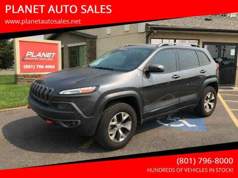 2015 Jeep Cherokee for sale at PLANET AUTO SALES in Lindon UT