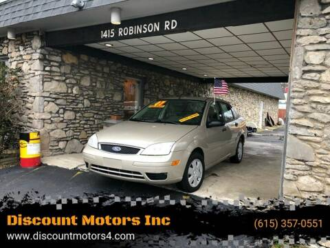 2007 Ford Focus for sale at Discount Motors Inc in Old Hickory TN