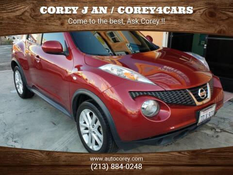 2013 Nissan JUKE for sale at WWW.COREY4CARS.COM / COREY J AN in Los Angeles CA
