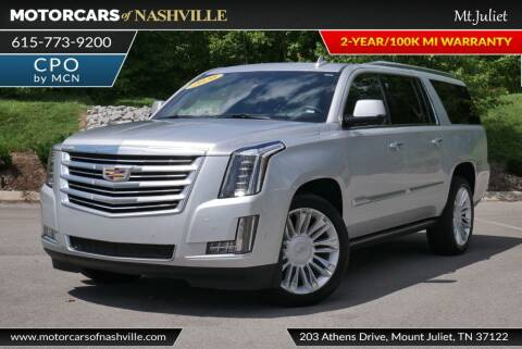 2020 Cadillac Escalade ESV for sale at MotorCars of Nashville in Mount Juliet TN