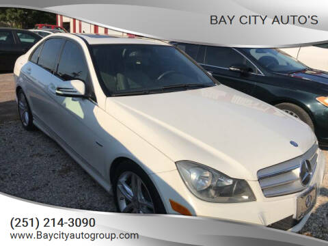 2012 Mercedes-Benz C-Class for sale at Bay City Auto's in Mobile AL