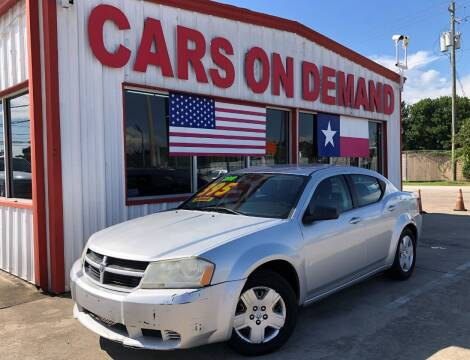 2010 Dodge Avenger for sale at Cars On Demand 3 in Pasadena TX