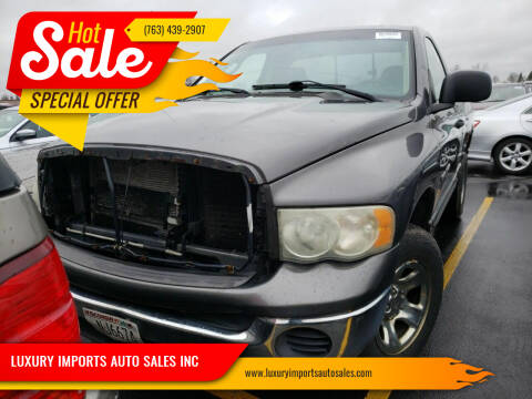 2002 Dodge Ram Pickup 1500 for sale at LUXURY IMPORTS AUTO SALES INC in North Branch MN