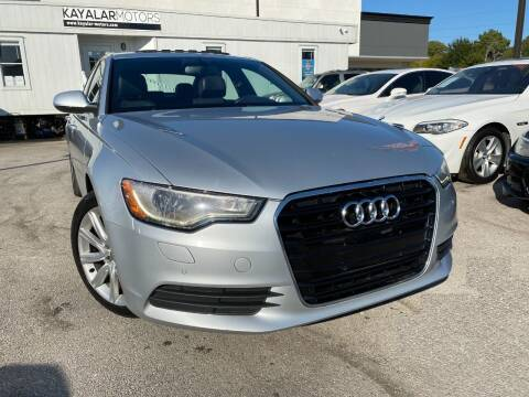 2013 Audi A6 for sale at KAYALAR MOTORS in Houston TX