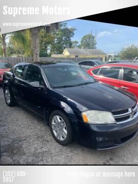 2011 Dodge Avenger for sale at Supreme Motors in Tavares FL