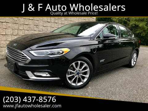 2017 Ford Fusion Energi for sale at J & F Auto Wholesalers in Waterbury CT