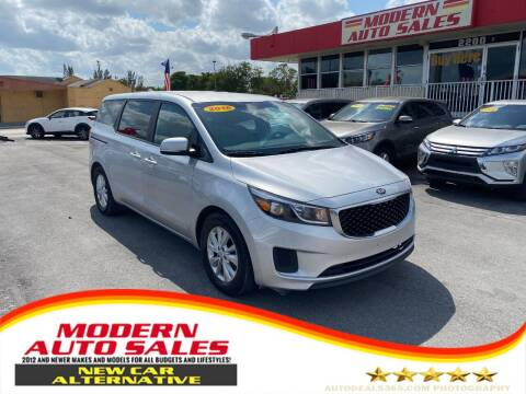 2016 Kia Sedona for sale at Modern Auto Sales in Hollywood FL