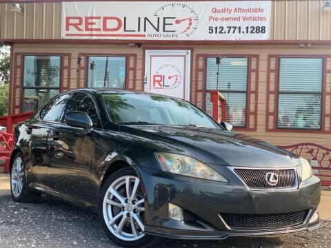 2007 Lexus IS 350 for sale at REDLINE AUTO SALES LLC in Cedar Creek TX