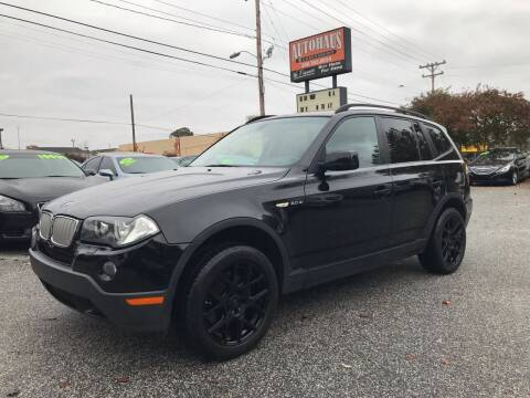 2008 BMW X3 for sale at Autohaus of Greensboro in Greensboro NC