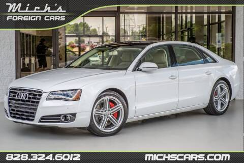 2013 Audi A8 L for sale at Mich's Foreign Cars in Hickory NC