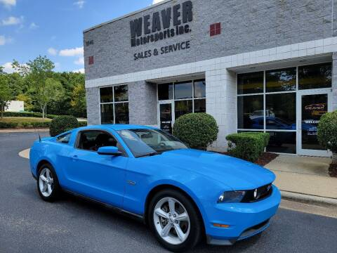2011 Ford Mustang for sale at Weaver Motorsports Inc in Cary NC