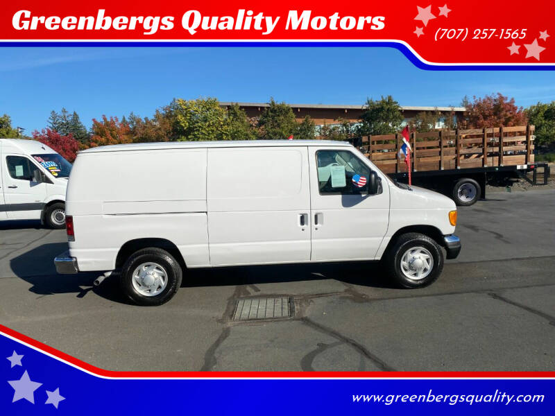2003 Ford E-Series Cargo for sale at Greenbergs Quality Motors in Napa CA