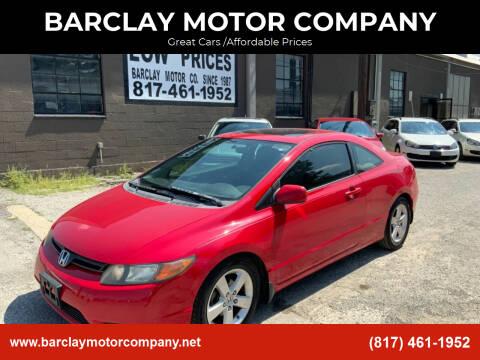 2008 Honda Civic for sale at BARCLAY MOTOR COMPANY in Arlington TX