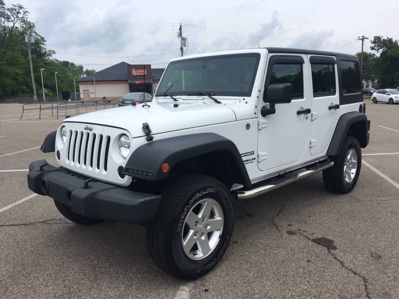 2014 Jeep Wrangler Unlimited for sale at Borderline Auto Sales in Loveland OH