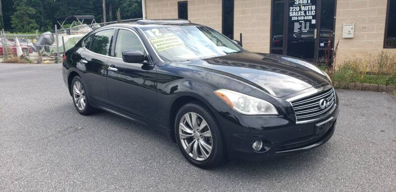 2012 Infiniti M37 for sale at 220 Auto Sales LLC in Madison NC