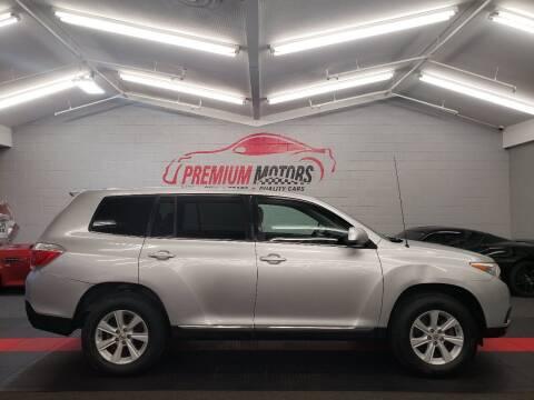 2012 Toyota Highlander for sale at Premium Motors in Villa Park IL